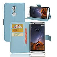 Чехол-книжка Litchie Wallet для ZTE Axon 7 Mini  Голубой, фото 1