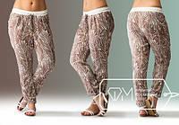 Женские брюки Рипли, шелк\ коричневые