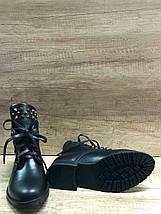 Стильные демисезонные полуботинки 35 размер черные Red Queen, фото 3