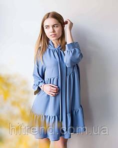 Платье-бант Mbocharova, голубое - 148453
