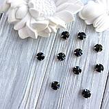 Кристали Ріволі 10 мм в оправі. Колір: Black (Чорний непрозорий), фото 2
