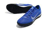 Сороконожки Nike Mercurial VaporX VII Pro TF blue, фото 4