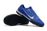 Сороконожки Nike Mercurial VaporX VII Pro TF blue, фото 3