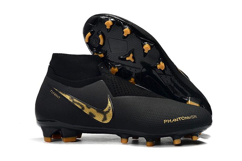Бутсы Nike Phantom Vision Elite DF FG black/gold