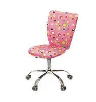 Детское компьютерное кресло для девочек КЕВИ розовые пузырьки