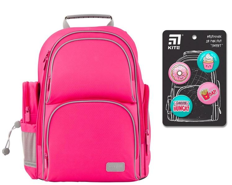 Рюкзак полукаркасный школьный Kite Education Smart для девочек Розовый (K19-702M-1)