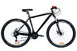 """Горный велосипед OPTIMABIKES AL MOTION DD AM 29""""(сине-оранжевый)20r, фото 3"""