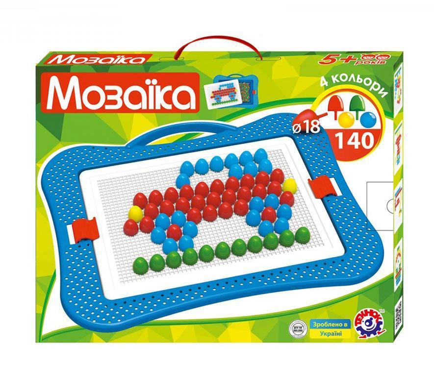 Мозаика ТехноК №6, 140 шт, 18мм, 4 цвета (3381)