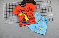 Костюм  для мальчика летний, детский, футболка с шортами, хлопок,размер 92, 98,104.