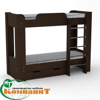 Кровать двухярусная Твикс 2 венге