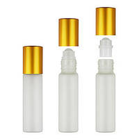 Флакон для парфюмерных масел «Роллер» 14 мл (золото) оптом