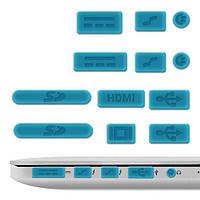 """Заглушки портов для Apple MacBook Air 11""""13"""" Pro 13""""15"""" Retina 2011-2016 силиконовые голубые, фото 1"""