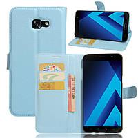 Чехол-книжка Litchie Wallet для Samsung A720 Galaxy A7 2017 Голубой