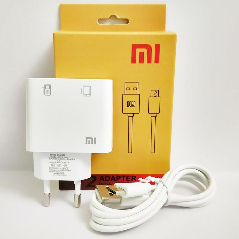 Зарядное устройство XIAOMI Adapter + кабель micro USB, 2 A, в коробке, зарядка сяоми шнур микро юсб ксиоми