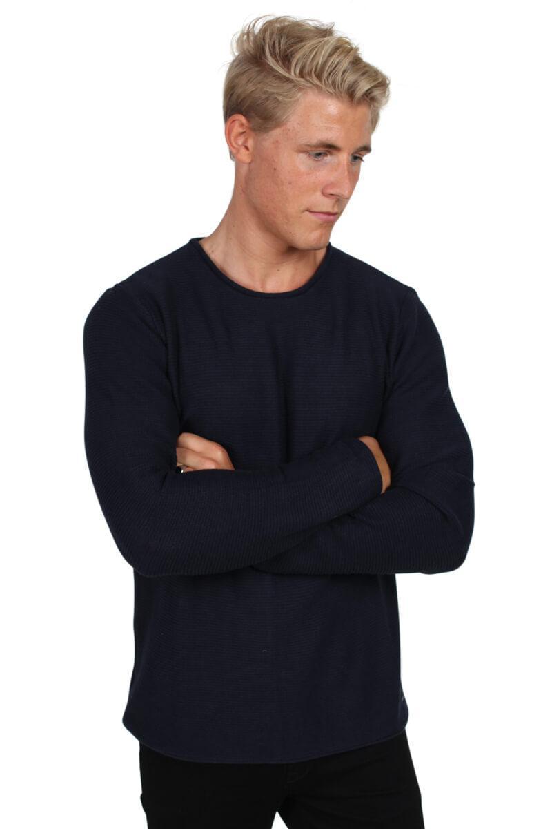 Мужской вязаный джемпер Jarah Insignia Blue от !Solid в размере S