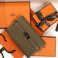 a5f0cca4c038 Женский кожаный кошелек от Hermes Original брендовая расцветка и принт  Hermes