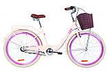 """Дорожньо-міський велосипед з багажником і кошиком DOROZHNIK LUX PH 26"""" (чорний), фото 3"""