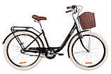 """Дорожно-городской велосипед с багажником и корзиной DOROZHNIK LUX PH  26"""" (антрацитовый), фото 3"""