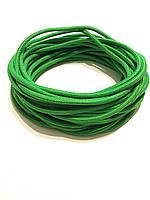 Жгут спортивный резиновый в тканевой оплетке ( резина, d-10 мм, I-200 см, зелёный  ) rez.zhyt10green, фото 1