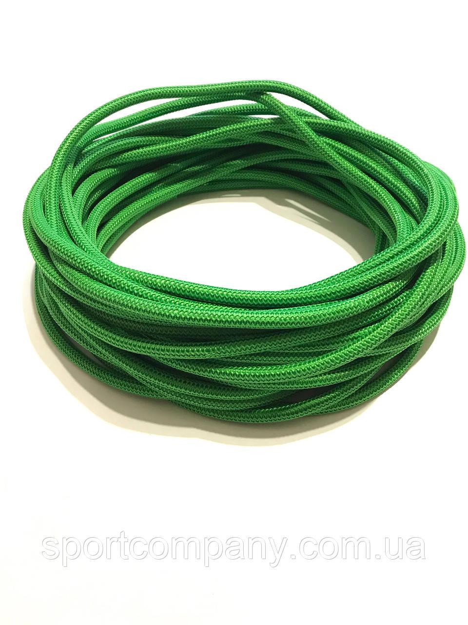 Жгут спортивный резиновый в тканевой оплетке ( резина, d-10 мм, I-200 см, зелёный  ) rez.zhyt10green