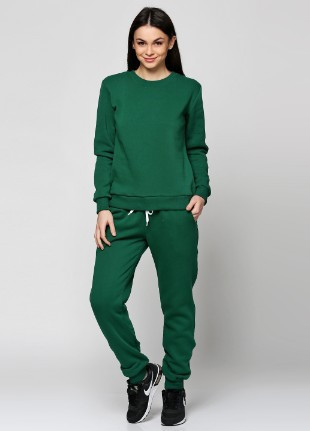 Штаны женские, спортивные, темно зеленые XL