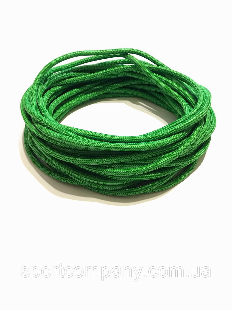 Жгут спортивный резиновый в тканевой оплетке ( резина, d-10 мм, I-400 см, зелёный  ) rez.zhyt10green