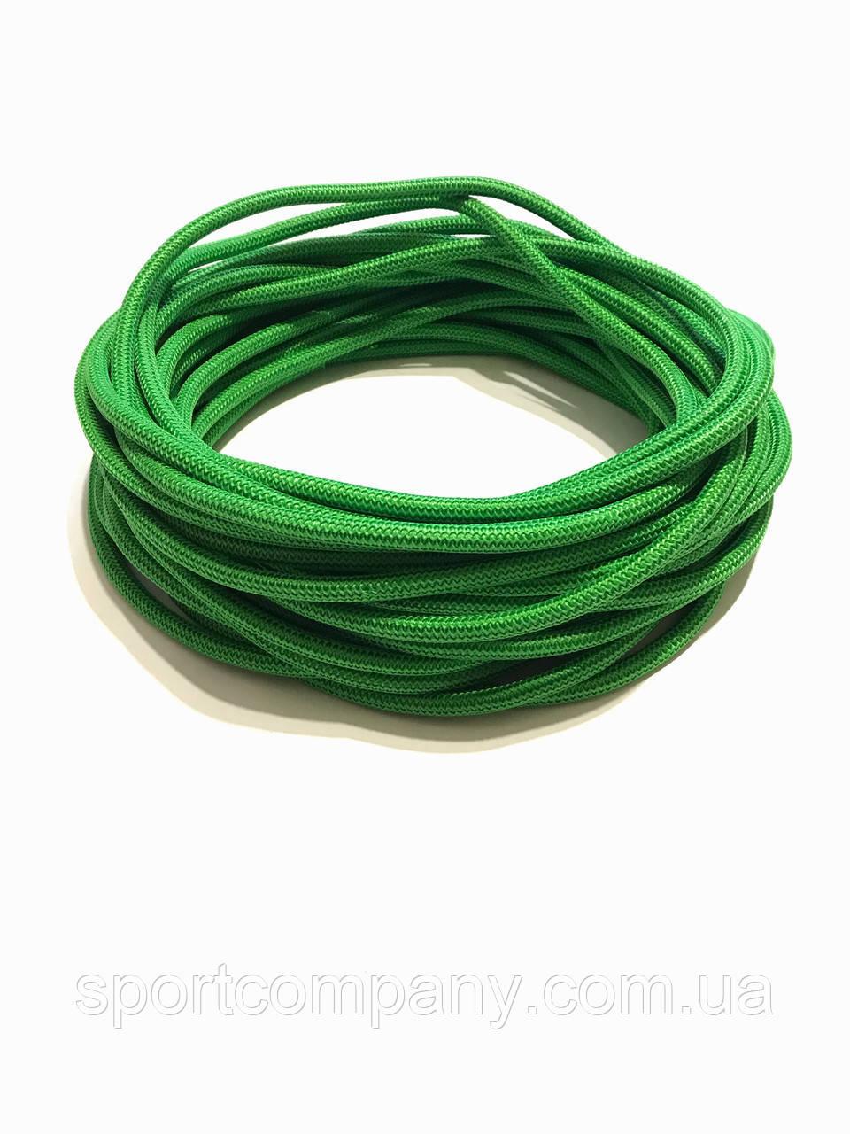 Жгут спортивный резиновый в тканевой оплетке ( резина, d-10 мм, I-500 см, зелёный  ) rez.zhyt10green