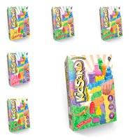 Кинетический песок DankoToys KidSand в коробке с формами 6 цветов (350, 500, 1000 г)