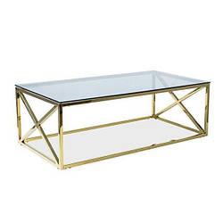 Журнальный столик ELISE A Signal тонированное стекло/золотой