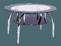 Журнальний столик Loja Signal загартоване скло/хром