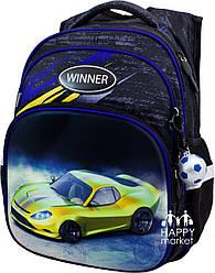 Рюкзак школьный ортопедический для мальчика  Winner Stile Гонка 8054