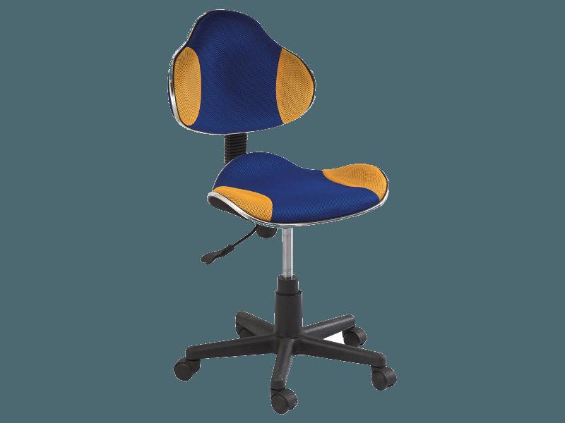 Компьютерное кресло Q-G2 ткань Signal сине-желтый