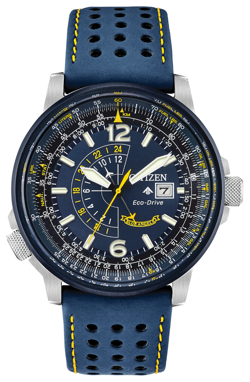 Часы Citizen Promaster Eco-Drive BJ7007-02L Nighthawk Blue Angels B877
