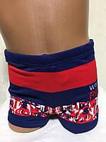 Плавки-шорты детские, подростковые плавательные. сине красные .TERES  BH 4301, фото 1