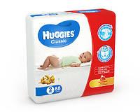 Подгузники HUGGIES classic 2 (3-6 кг) 88 шт