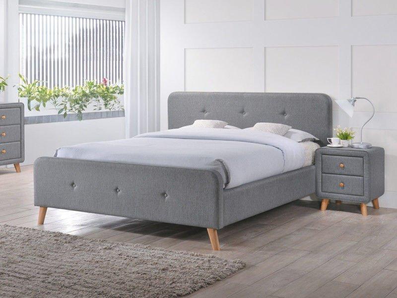 Кровать Malmo 180x200 Signal серый