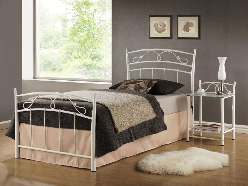 Кровать Siena 90x200 Signal белый