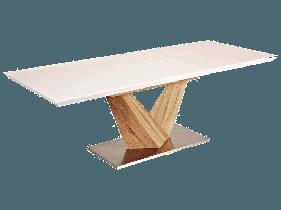 Стол обеденный деревянный ALARAS 160x90(220) Signal белый