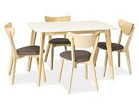Стол обеденный деревянный COMBO Signal белый 120*75