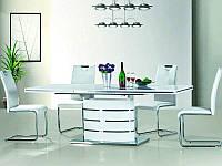 Стол обеденный деревянный Fano 160-220x90 Signal белый лакированный