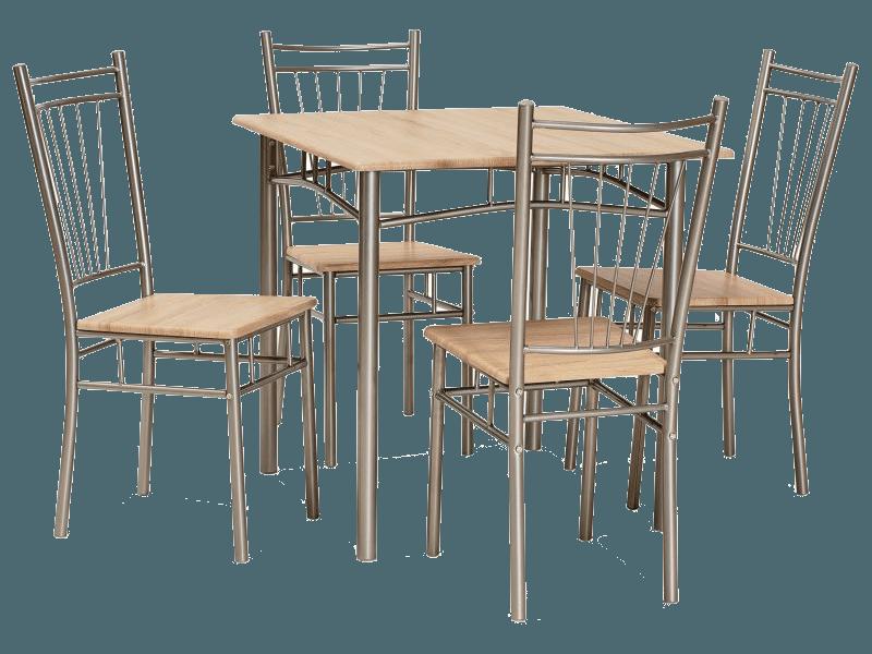 Стол обеденный деревянный Fit + 4 стула Signal