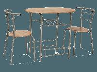 Стол обеденный деревянный Gabo дуб сонома + 2 стула Signal алюминий