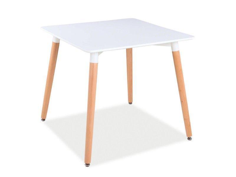Стол обеденный деревянный Nolan II Signal белый/бук