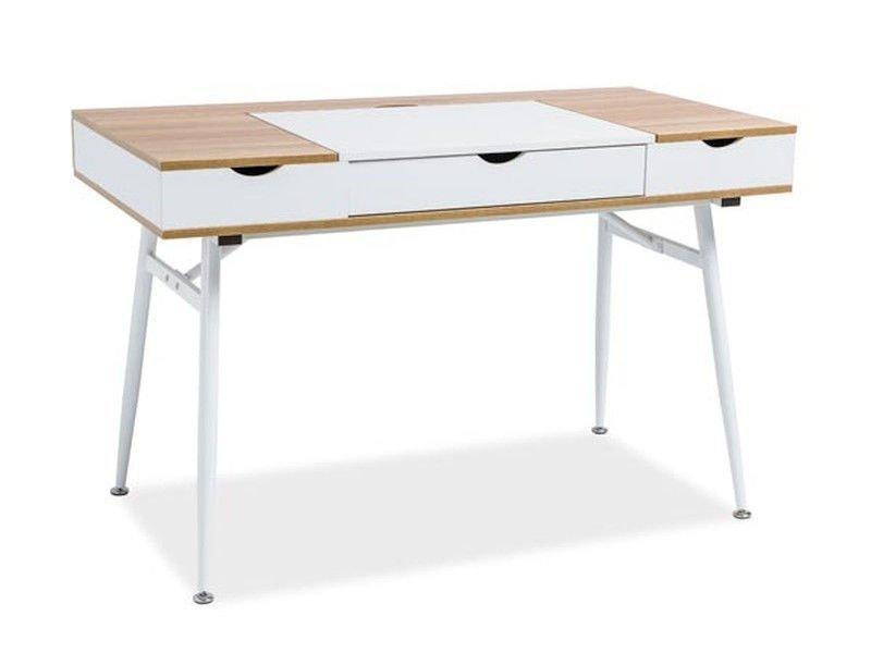 Стол письменный деревянный B-151 Signal дуб/белый