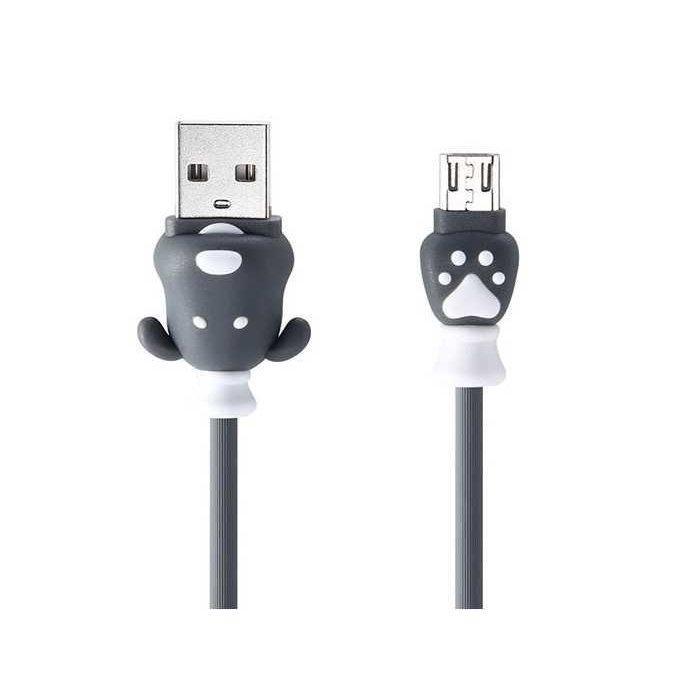 USB Data кабель Remax Fortune RC-106m MicroUSB 1m Grey