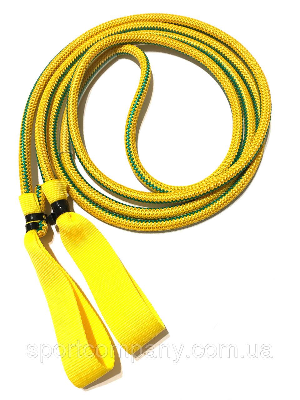 Эспандер для лыжника, боксера, пловца и фитнеса с ручками 12 мм, желтый, 9 метра.