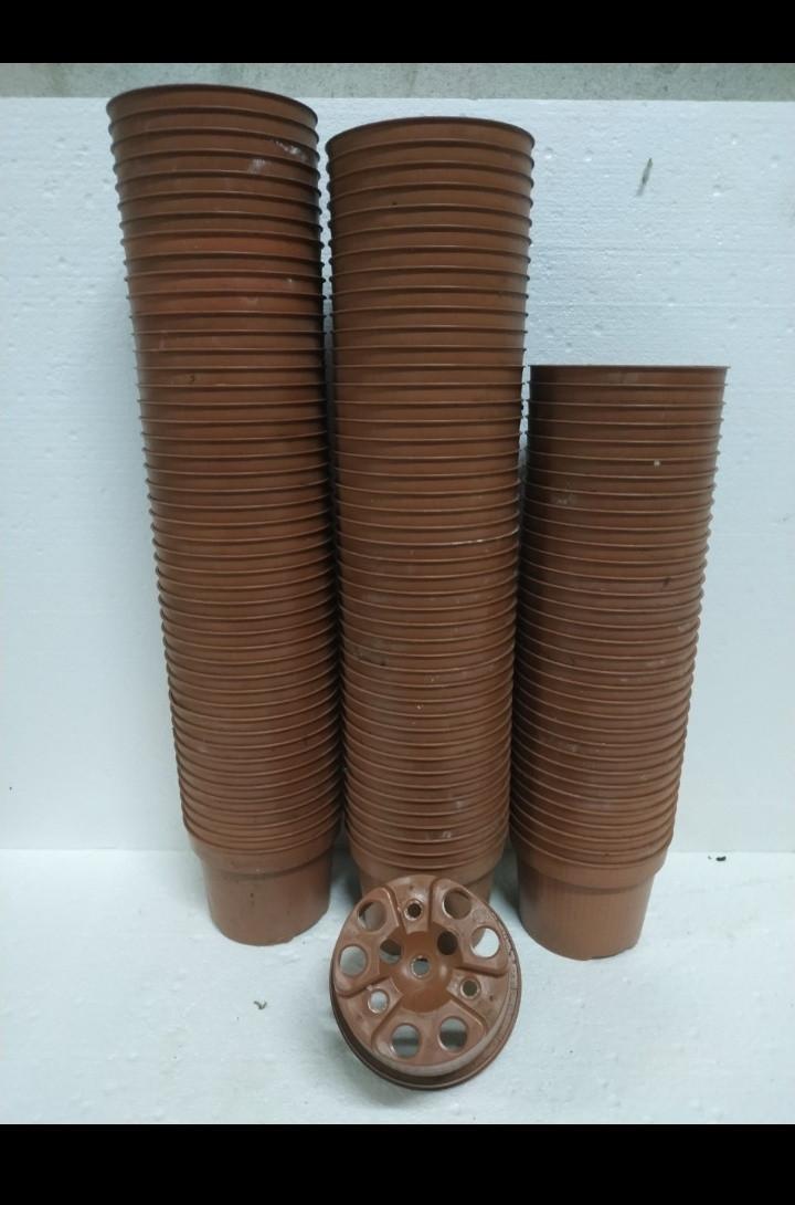 Горшок для рассады  10 диаметр 0,5  литра теракот