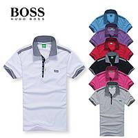 Мужская футболка поло в стиле Hugo Boss хуго босс