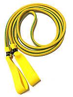 Эспандер для лыжника, боксера, пловца и фитнеса с ручками 12 мм, желтый, 1 метр.