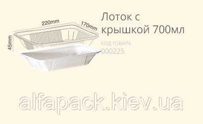 Контейнер с фольгированной крышкой 800 мл